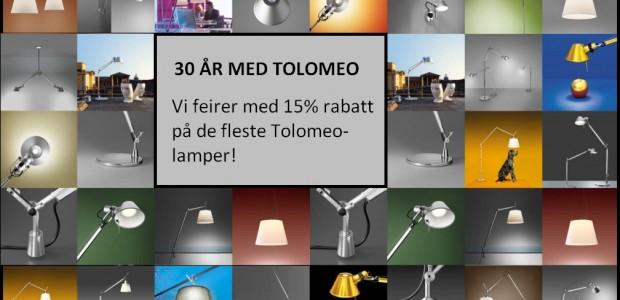 Kampanje på Tolomeo lamper fra Artemide -15% rabatt