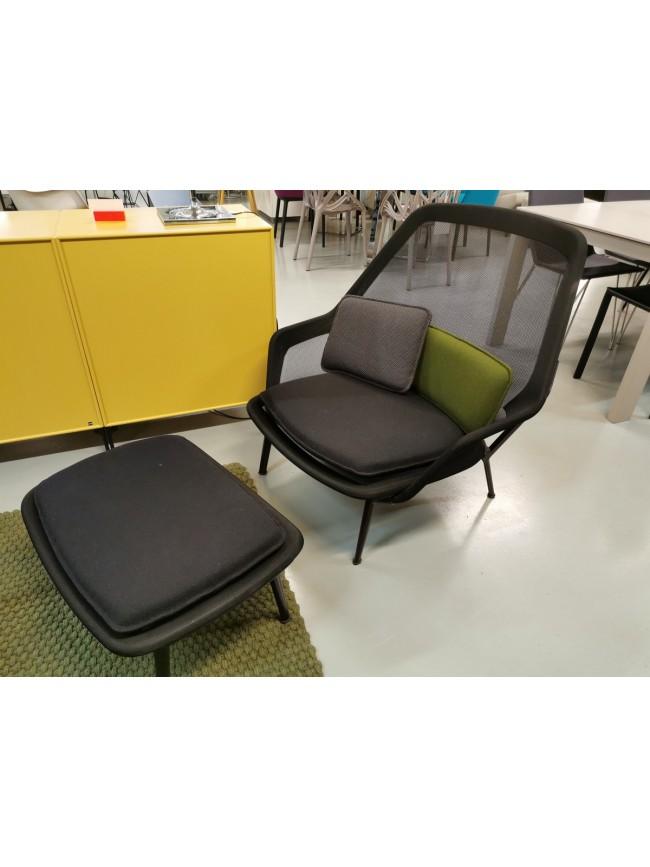 Vitra Slow Chair med skammel fra utstilling.